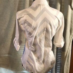 True Grit Tops - White button down blouse